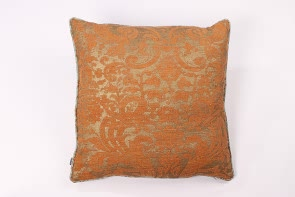 Orange & Gold Linen Cushion