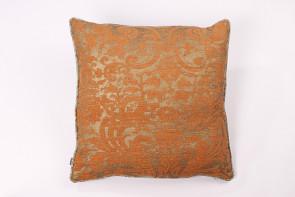 Orange & Gold Linen Cushion
