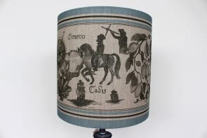 Mediterranean Blue Lamp Shade
