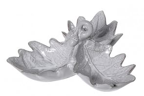 Oak Leaf Dish - Grey