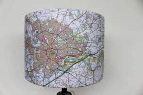 Norwich Map Lamp Shade