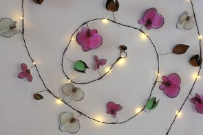 Orchid outdoor light chain