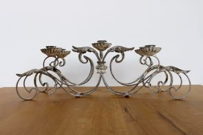 Ornate Triple Candle Holder