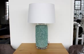 Pale Blue Lamp/Shade Set