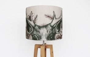 Peering Stag lamp shade