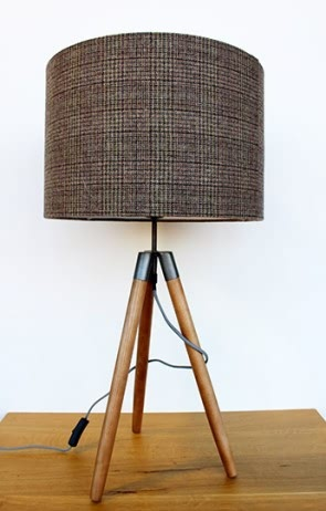 Perseus Table Lamp and Kelty Plum Shade Set