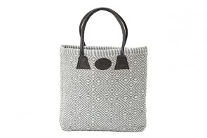 Plain Woven Bag in Grey