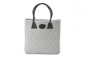 Plain Woven Bag in Grey