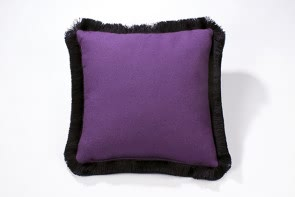 Purple cushion with Fringe