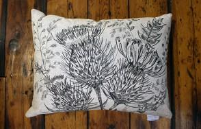 Rannoch thistle cushion