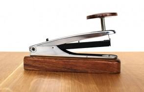 Steel/Sheesham stapler