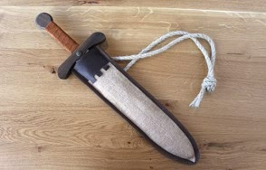 Sword with pouch