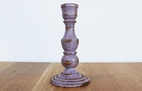 Troja purple candlestick