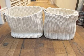 White Woven Cotton Basket