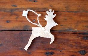 Carved Reindeer Decoration