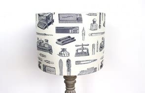 Writing utensils lamp shade