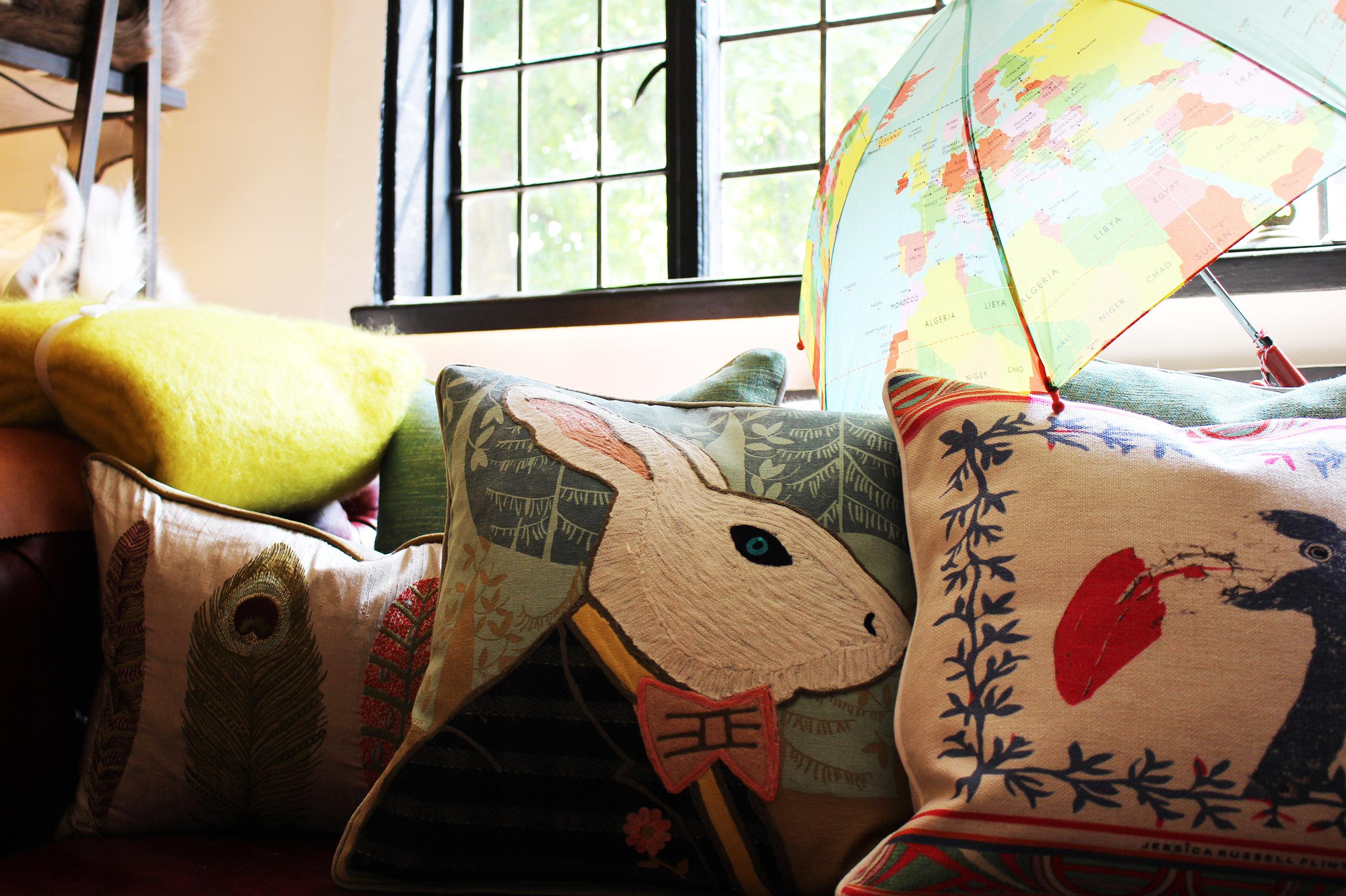 Cushions; Colourful