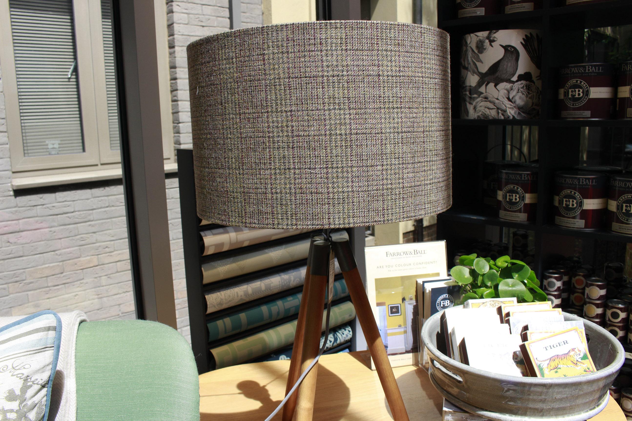 lamp shade, wool, grey
