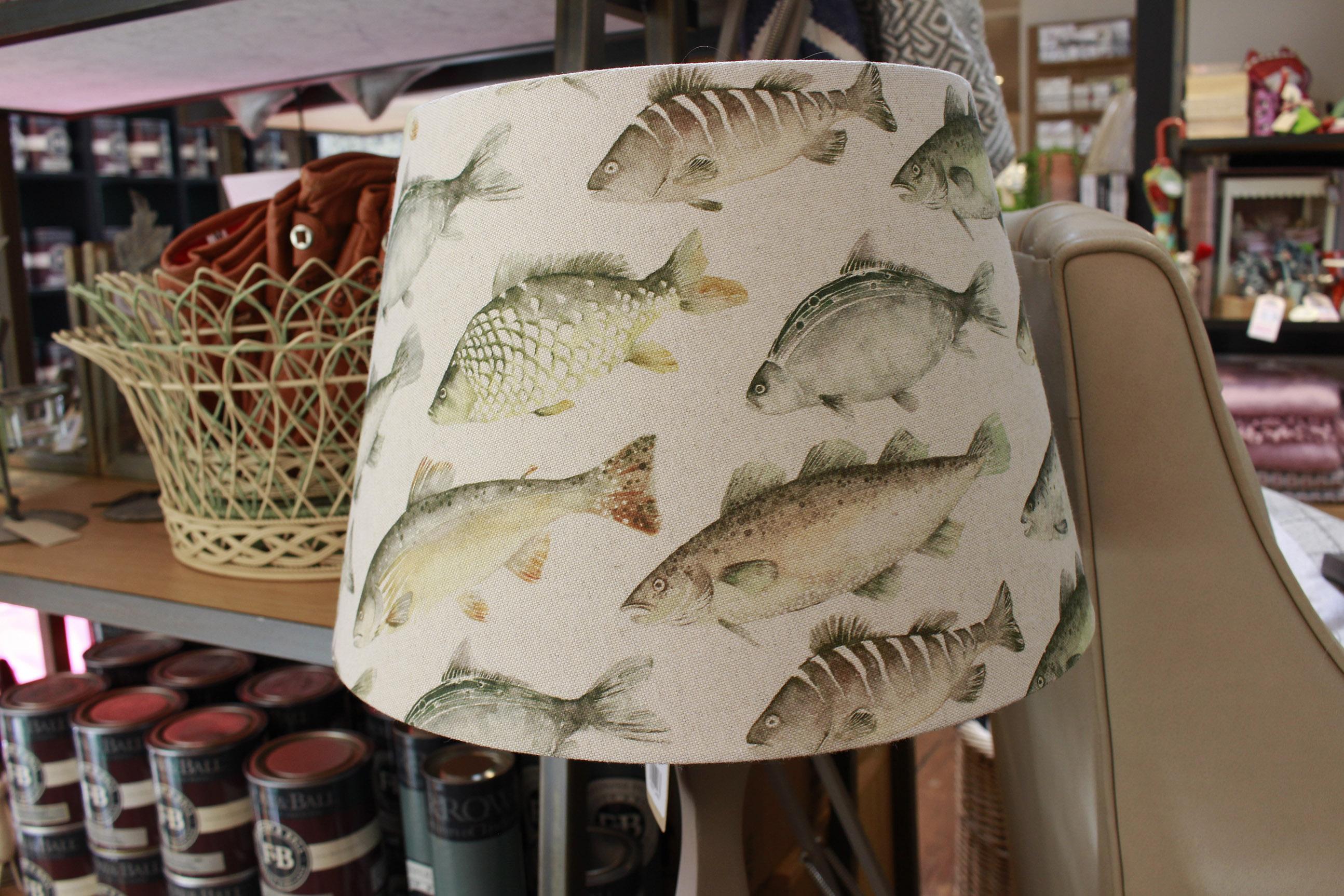 lamp shade, fish