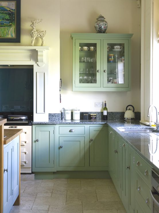 Farrow And Ball Coastal Painted Kitchen Cupboards