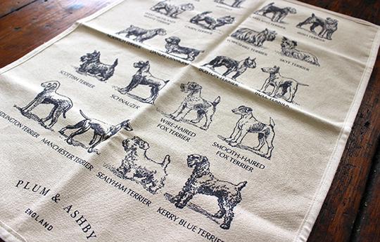 terrier tea towel