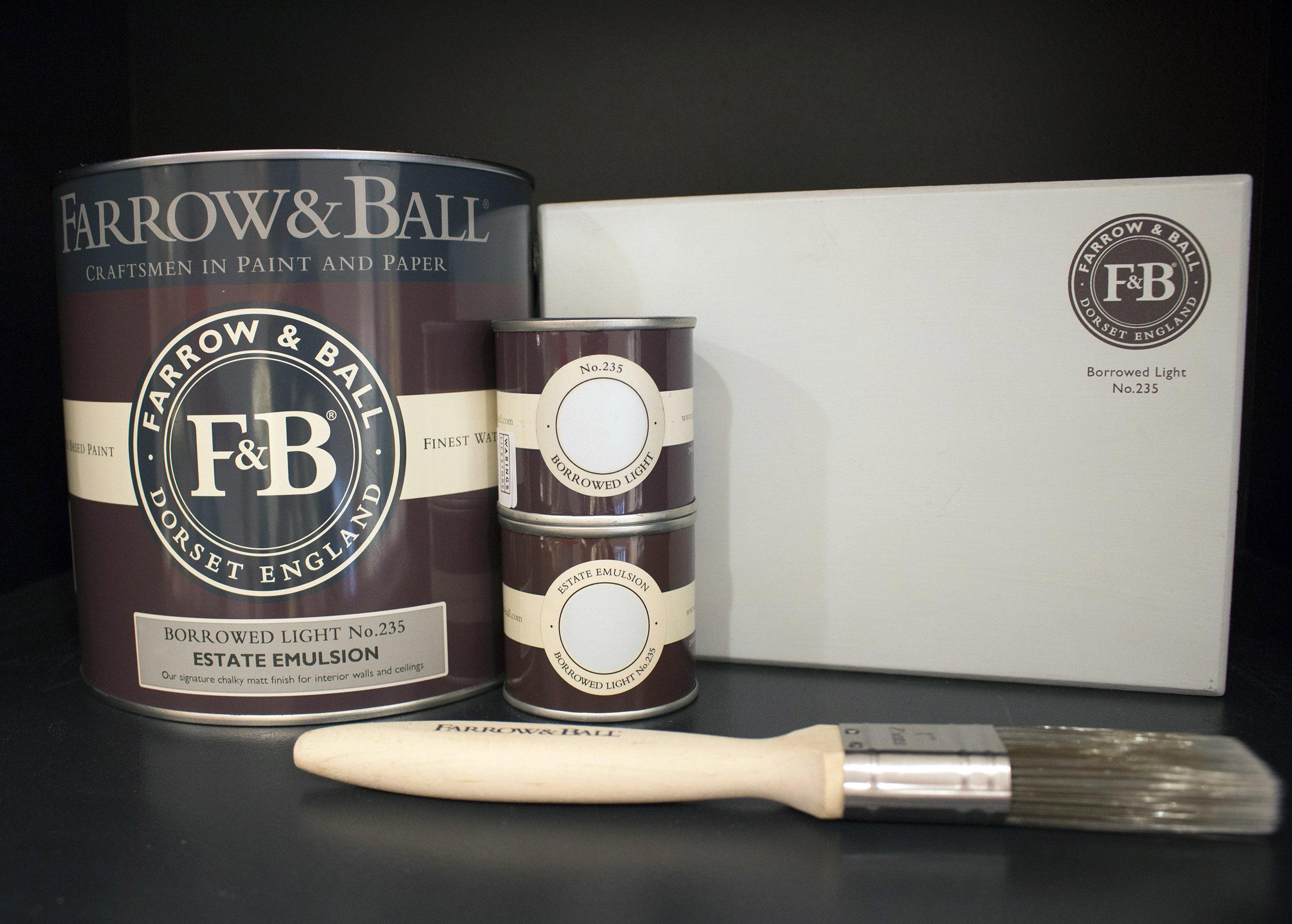 farrow&ball, farrow and ball, paint, decorating, paint brush, borrowed light