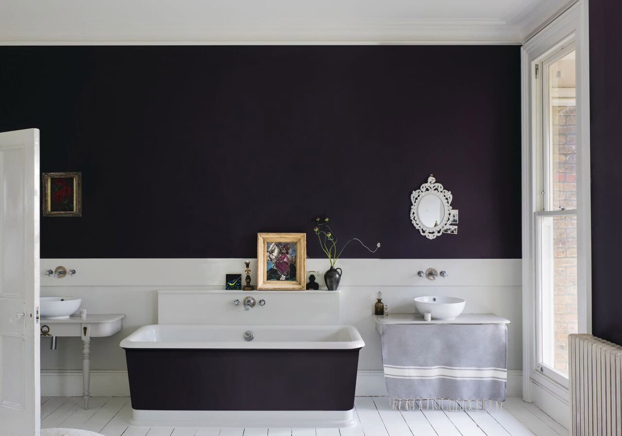 farrow&ball, farrow and ball, paint, decorating, paint brush, paean black