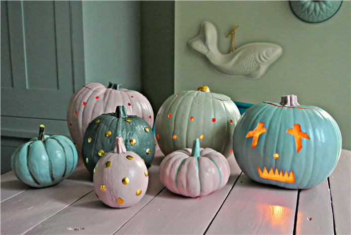 farrow and ball Halloween pumpkins