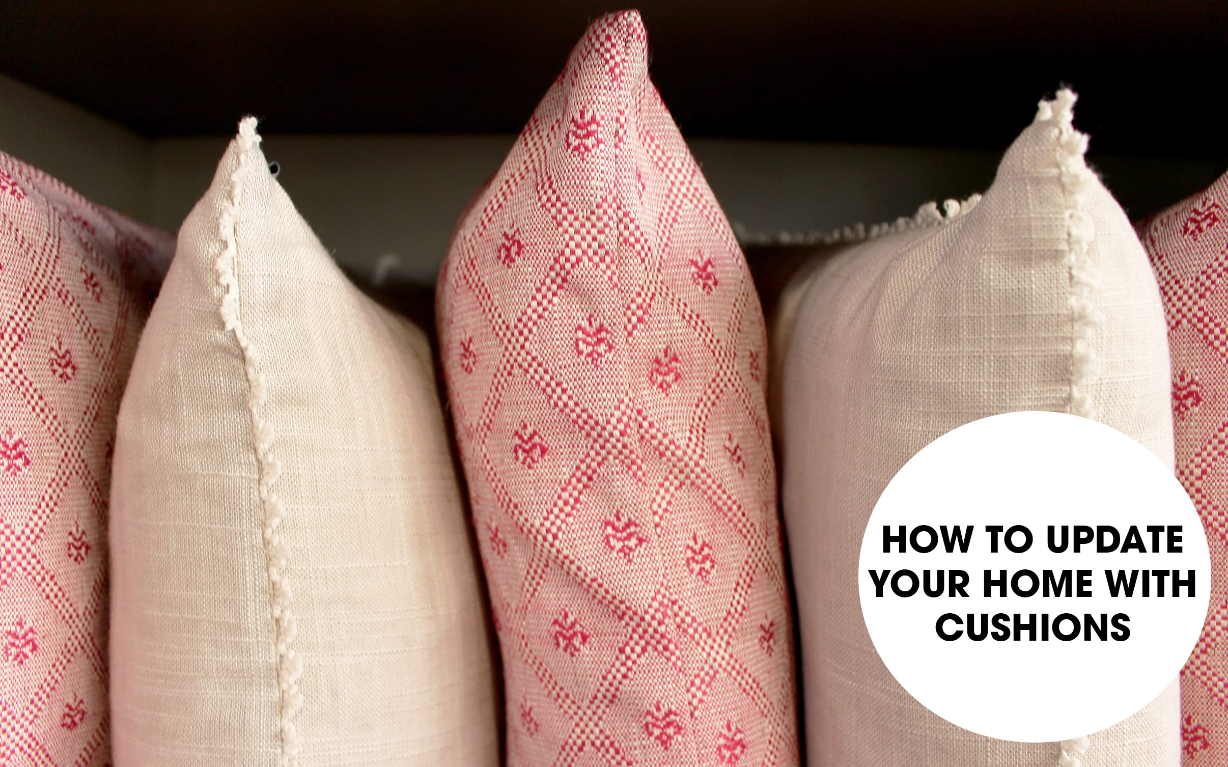 update your home with cushions