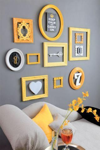 grey, orange, farrow&ball, mirror, interior