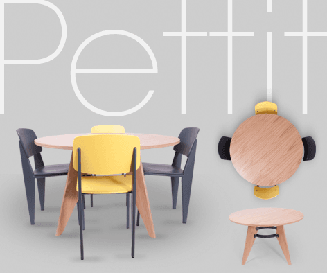 Petit tables and chairs