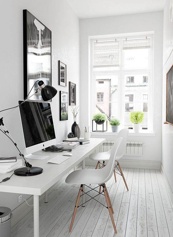 home office neutral palette