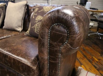 Detail of Chesterfield Sofa